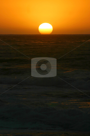 Pacific Sunset stock photo, The sun sets off the coast in La Jolla, Calif. by MIca Mulloy
