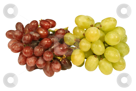 A bunch of red and green grapes. stock photo, A bunch of red and green grapes. by Stephen Rees