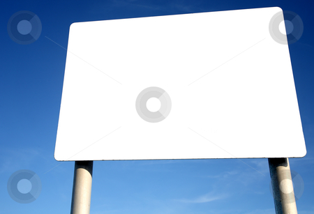 Large blank white billboard. stock photo, Large blank white billboard. by Stephen Rees