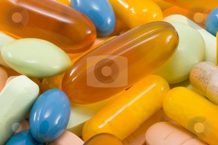 Drugs stock photo, A ton of various kinds of drugs in different colours by Petr Koudelka