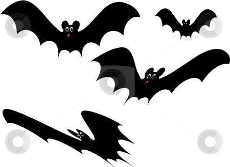 Vector spooky Halloween bats stock vector clipart, Spooky vector style cute Halloween cartoon bats by Michelle Bergkamp