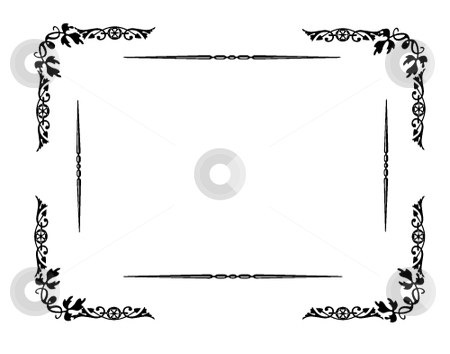Set of vector floral frames stock vector clipart, Set of useful borders, backgrounds corners and frames. vector graphics illustration by Michelle Bergkamp