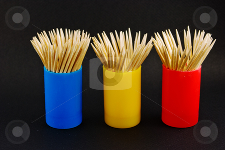 Toothpick containers stock photo, Colorful toothpick containers by Robert Cabrera