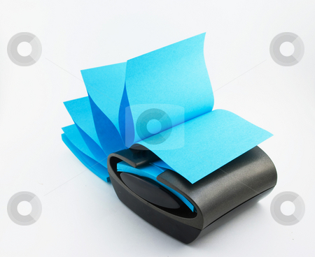 Sticky Note Dispenser stock photo, Sticky notes dispenser isolated by Robert Cabrera