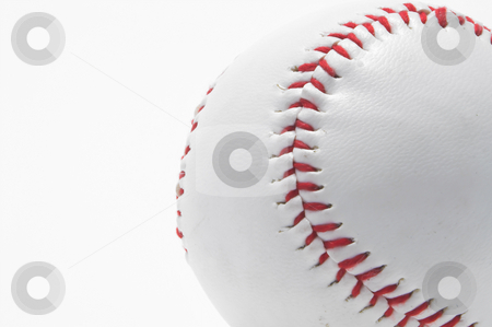 Baseball - Red Stitching stock photo, A lone baseball with bright red stitching. by Robert Byron