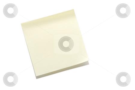 Sticky Note stock photo, A blank sticky note ready for a message. by Robert Byron