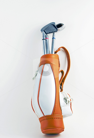 Golf Bag and Clubs stock photo, Golf bag and clubs isolated on white by Robert Cabrera