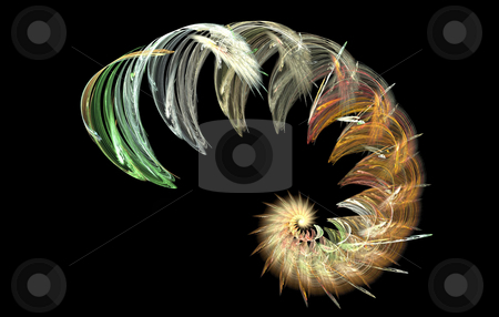 Background stock photo, Spiral star flame on the black background by Petr Koudelka