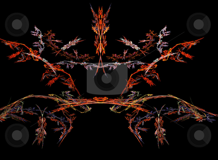 Abstract Background stock photo, Abstract bilateral flame on the black background by Petr Koudelka