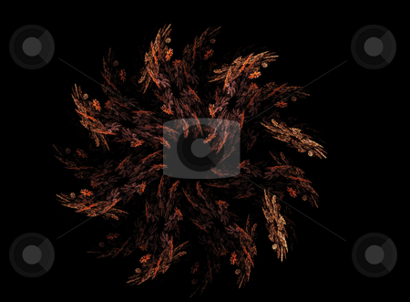 Background stock photo, Abstract spiral flame on the black background by Petr Koudelka