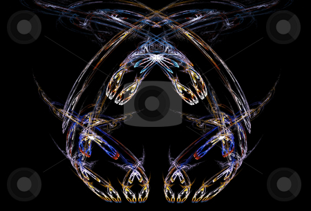 Background stock photo, Bilateral star flame on the black background by Petr Koudelka
