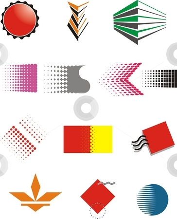 Symbols on isolated white background stock photo, Vector design elements print, creacive by Zirbo Ovidiu