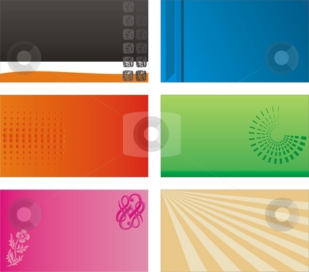 Business card backings stock photo, Vector design elements print, creative for using on the back of a business card by Zirbo Ovidiu