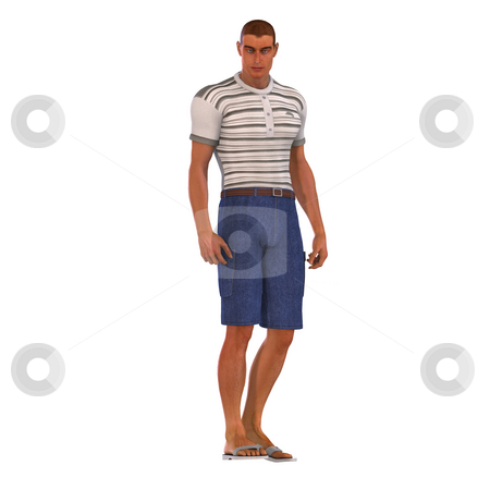 3D Leisure Time stock photo, Man in leisure clothes Image contains a Clipping Path by Ralf Kraft