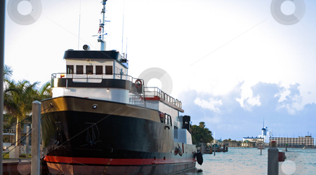 Ship at Dock stock photo, Dive Boat at dock in florida by Robert Cabrera