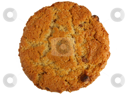 Large tasty homemade ginger biscuit cookie isolated over white. stock photo, Large tasty homemade ginger biscuit cookie isolated over white. by Stephen Rees