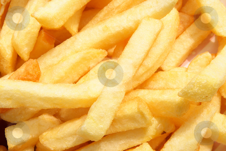 A close up of chips from a UK cafe. stock photo, A close up of chips from a UK cafe. by Stephen Rees