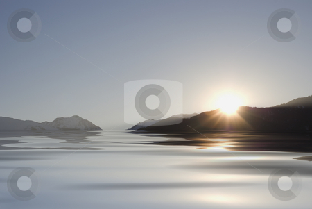 Patagonia stock photo, Landscape between ice,mountain and ocean . by Serge VILLA