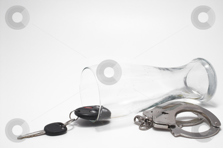 Beer, Keys and Handcuffs - Drunk Driving Concept  stock photo, Drunk Driving Concept - Beer, Keys and Handcuffs by Robert Byron