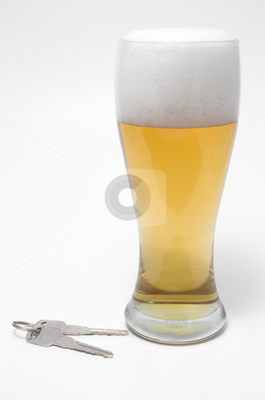 Beer and Car Keys stock photo, Drunk Driving Concept - Beer, and Car Keys by Robert Byron