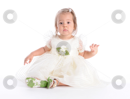 Little Princes 4 stock photo, Little Baby in White Dress by Valeriy Mazur