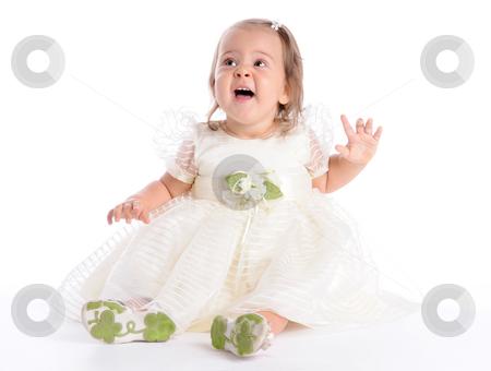 Little Princes 3 stock photo, Little Baby in White Dress by Valeriy Mazur