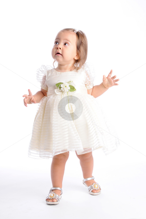 Little Princes stock photo, Little Baby in White Dress by Valeriy Mazur