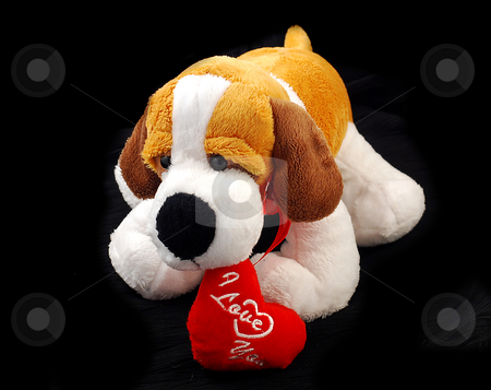 Stuffed I Love You Puppy Dog stock photo, Product Photography Stuffed Animal Puppy Dog by Matt Ferrell