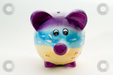 Piggy Bank stock photo, Piggy Bank facing head on. by Johan Knelsen
