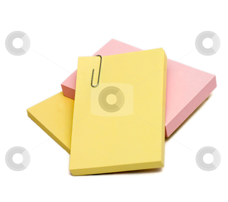 To-Do List stock photo, Isolated stack of post it notes for any to do list by Johan Knelsen