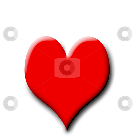 Red Heart stock photo, A red heart on a patterned background with shadows by Johan Knelsen