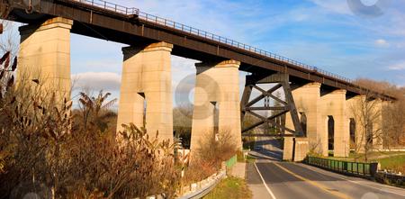 Railway Overpass stock photo, Old Railway Bridge Overpass In St Thomas Ontario, Canada. by Johan Knelsen