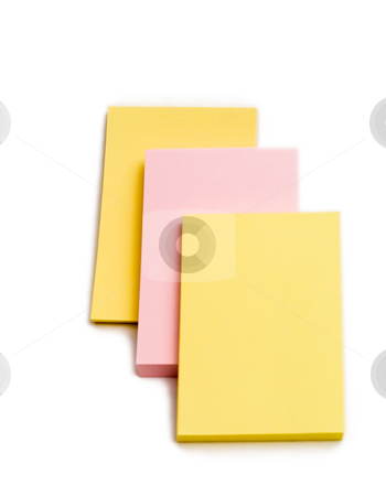 Post It Stack stock photo, An isolated stack of postit notes for remembering by Johan Knelsen