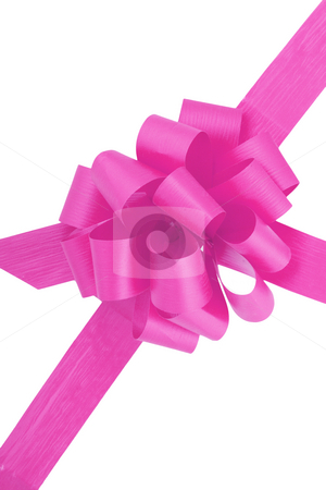 Purple Ribbon stock photo, A purple ribbon  isolated on the white background by Petr Koudelka