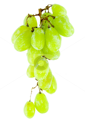 Bunch of Grapes stock photo, Detail of a bunch of grapes on the white background by Petr Koudelka