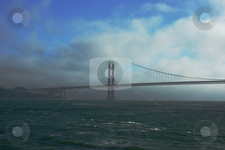 Golden Gate and Colors stock photo, The Golden Gate bridge surrounded by the many colors of nature. by Lynn Bendickson