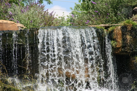 Man Made Waterfall Tuscumbia, Alabama stock photo, Man made waterfall at Spring Park in Tuscumbia, Alabama by Debbie Hayes