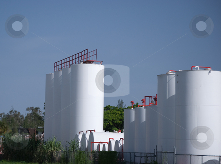Milk Plant stock photo, Milk processing and production plant silos by Robert Cabrera