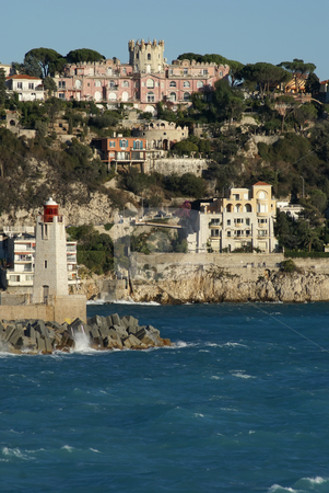 French Riviera stock photo, View of the harbor of Nice in French Riviera by Serge VILLA