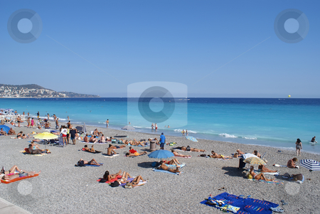 On the Beach stock photo, Beach in the city of Nice (French Riviera) by Serge VILLA
