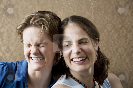 Women Laughing stock photo, Portrait of Two Young Women Friends Laughing by Scott Griessel