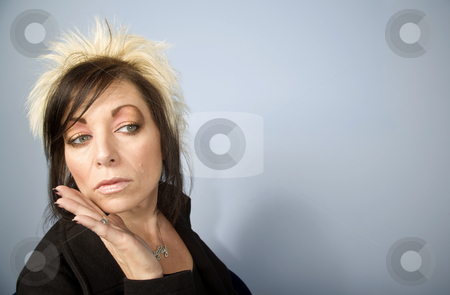 Creative Businesswoman with Copy Space stock photo, Portrait of a creative businesswoman with wild hair by Scott Griessel