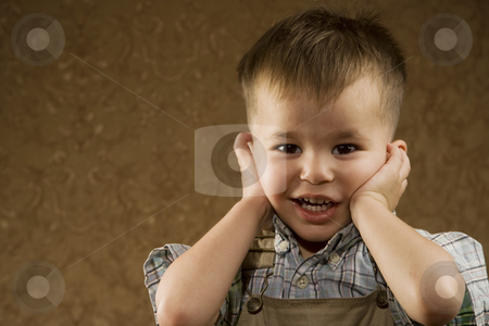 Young Arabic Boy stock photo, Portrait of a happy young Arabic boy by Scott Griessel