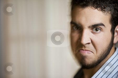 Angry Young Man with Motion Effect stock photo, Close Up of Angry Young Man with a Photographic Motion Effect by Scott Griessel