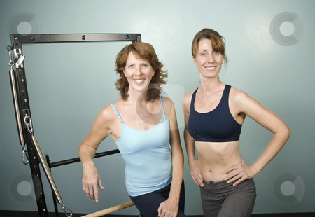 Two workout woman stock photo,  by Scott Griessel