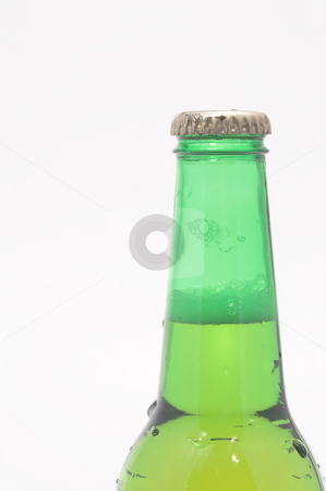 Cold Beer stock photo, A delicious cold beer in a green bottle. by Robert Byron