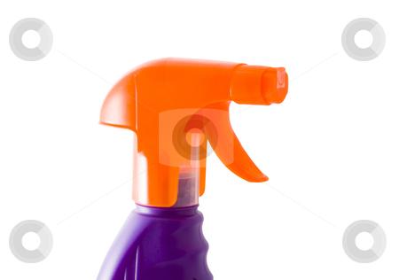 Sprayer stock photo, An orange plastic sprayer isolated on the white background by Petr Koudelka