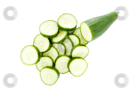 Cucumber stock photo, Sliced cucumber - healthy eating - vegetables - close up by Petr Koudelka