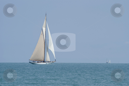 Old Saling Boat  stock photo, Old sailing boat in Antibes (french riviera) during a regatta. by Serge VILLA