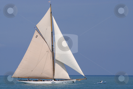 Sailing Boat stock photo, Old sailing boat in Antibes (french riviera) during a regatta. by Serge VILLA